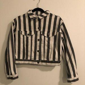 Stripped jean jacket